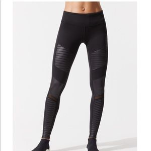 All Yoga black Moto legging